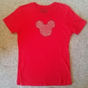 Disney Soft Red Rhinestone TShirt NEW